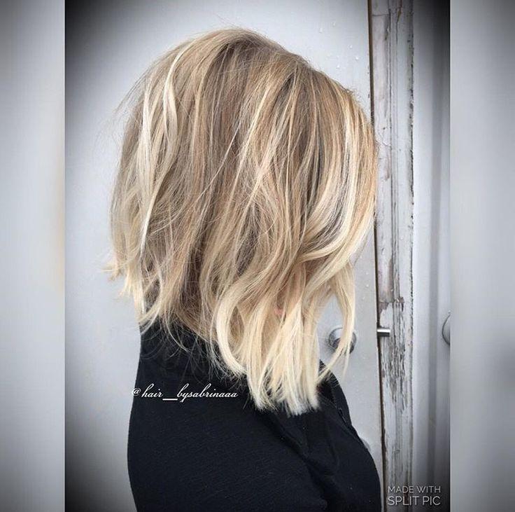 Blonde balayage bob