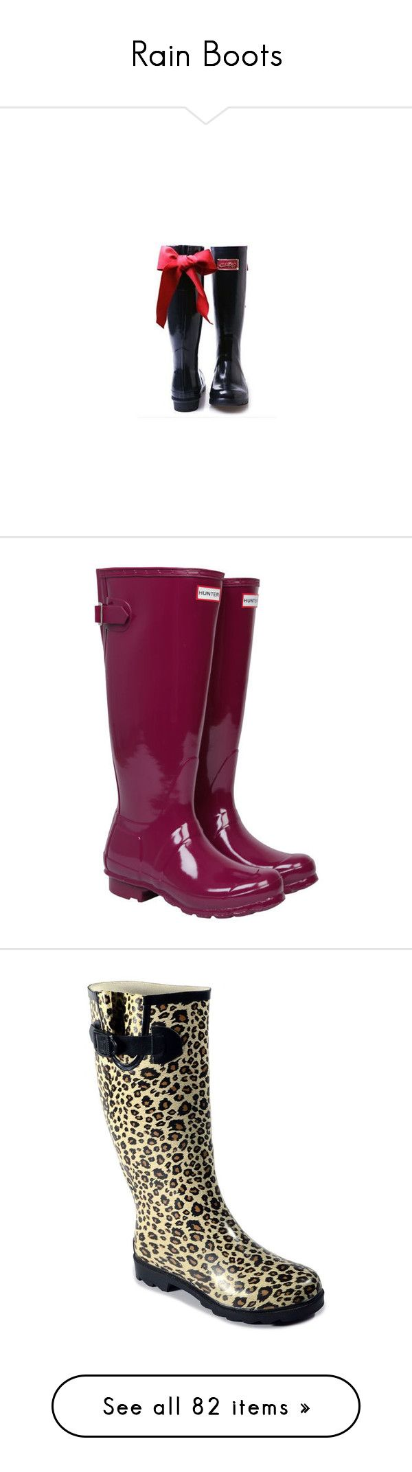 """""""Rain Boots"""" by kginger ❤ liked on Polyvore featuring rain boots, shoes, boots, gumboots, purple, wellington boots, shining boots, adjustable shoes, purple shoes and purple boots"""