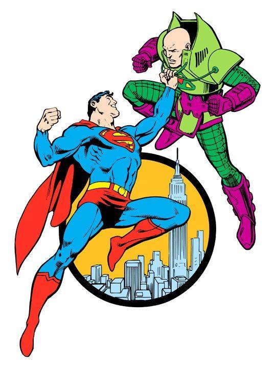 Superman vs. Lex Luthor from 1982 DC Comics Style Guide by José Luis García-López