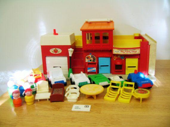 Vintage Fisher Price Village Play Set by toysofthepast on Etsy