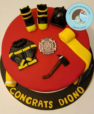 Sweets by Flor Firefighter Cake