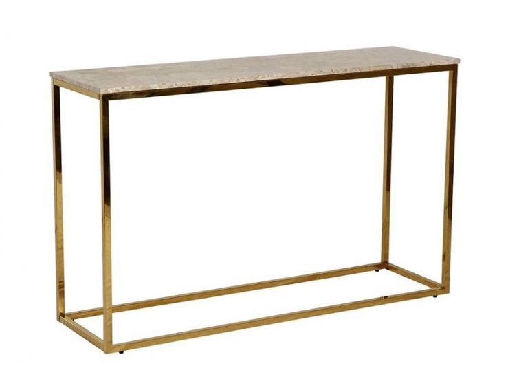 CARRIE Avlastningsbord 120 Messing/Beige i gruppen Innendørs / Bord / Sidebord hos Furniturebox (100-78-94279)