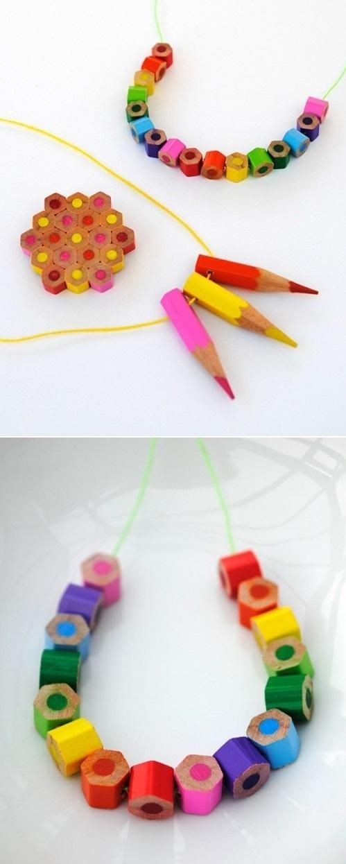 Give the colorful gift of colored pencil jewelry!