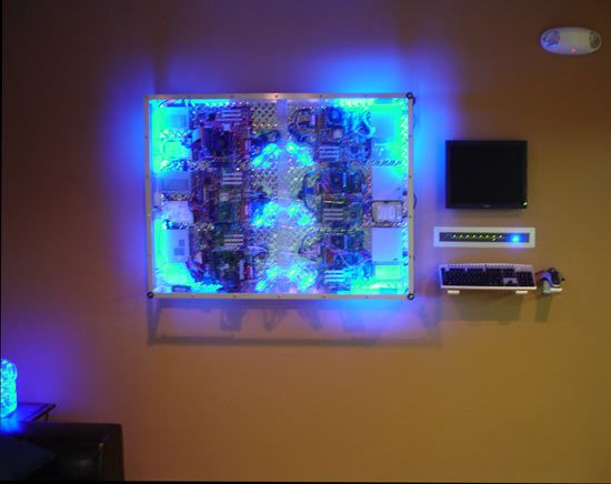 Wall Mounted Computer Case Mod: 6 PC's in 1 Case - 42 Best Wall Mount Rigs Images On Pinterest