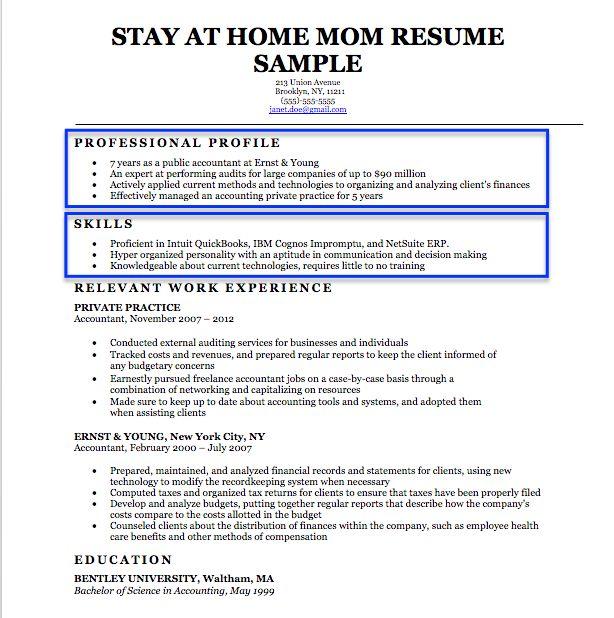 stay home mom resume sample amp writing tips companion