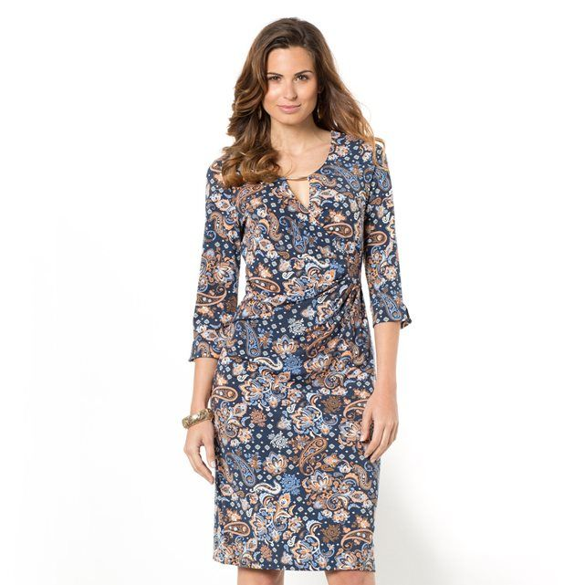Платье каш-кер ANNE WEYBURN (Пейсли/темно-синий)