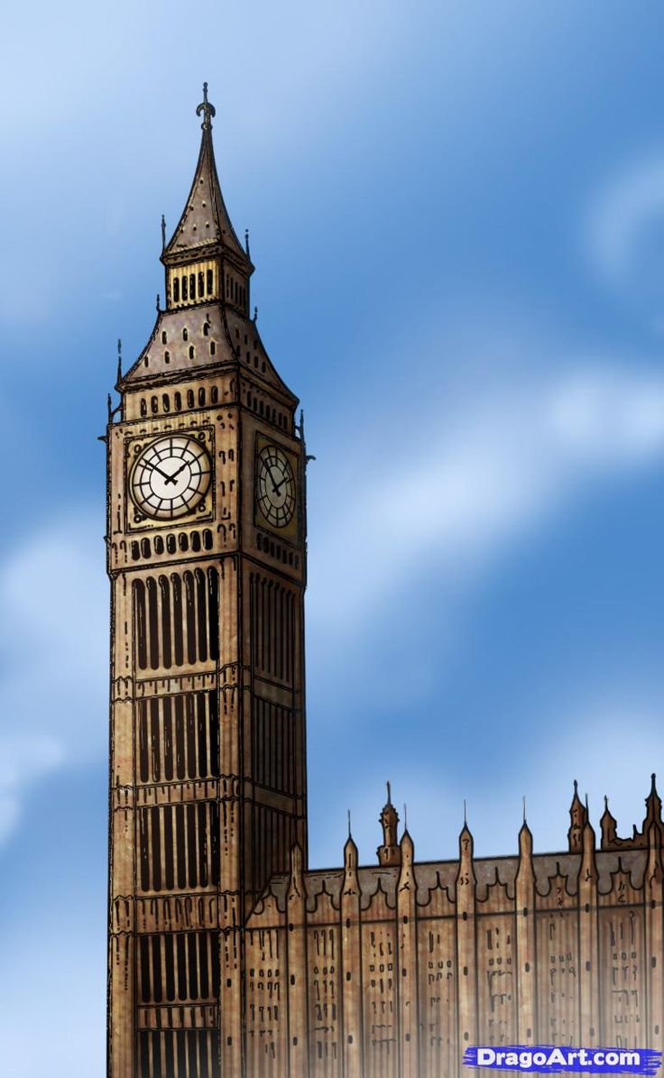 How to Draw Big Ben, website has how to draws for A LOT of things