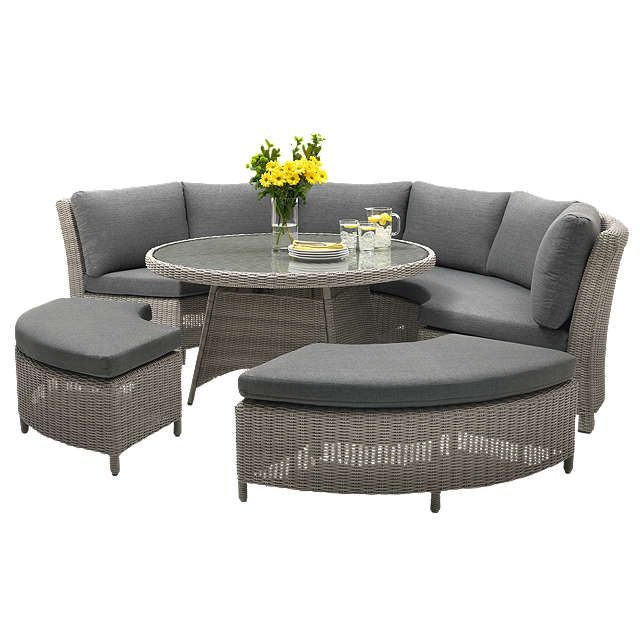 Kettler Palma 8 Seater Round Garden Dining Table And Chairs Set