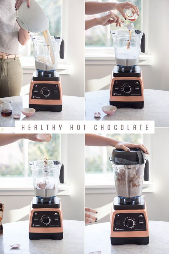 The perfect drink to cozy up by the fire - try this Healthy hot chocolate recipe