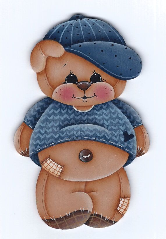 This is a painting pattern that I have created for one of my designs:Cubby the Bear ornament or fridge magnet. This e-pattern includes a photo,