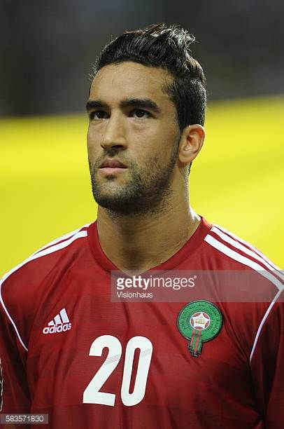 Youssef Hadji of Morocco during the 2012 African Cup of Nations Group C match between Gabon and Morocco at the Stade de l'Amitie in Libreville Gabon...
