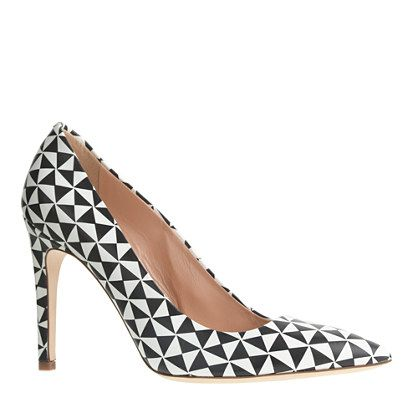 FALSETTO PRINTED LEATHER PUMPSShoes, Leather Pump, Pumps Heels, Prints Leather, Falsetto Prints, J Crew, Prints Pump, Totally Wearable, Jcrew Claremont