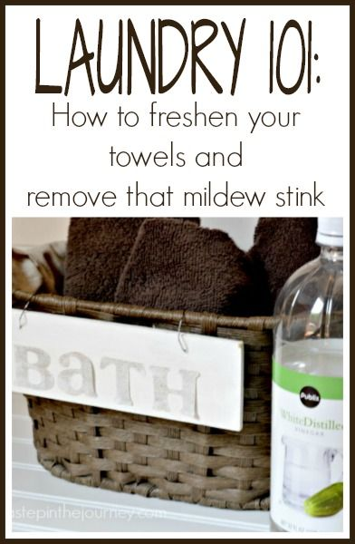 How to remove the mildew smells from your towels, using either a top or front loading washing machine! Finally, fresh towels!