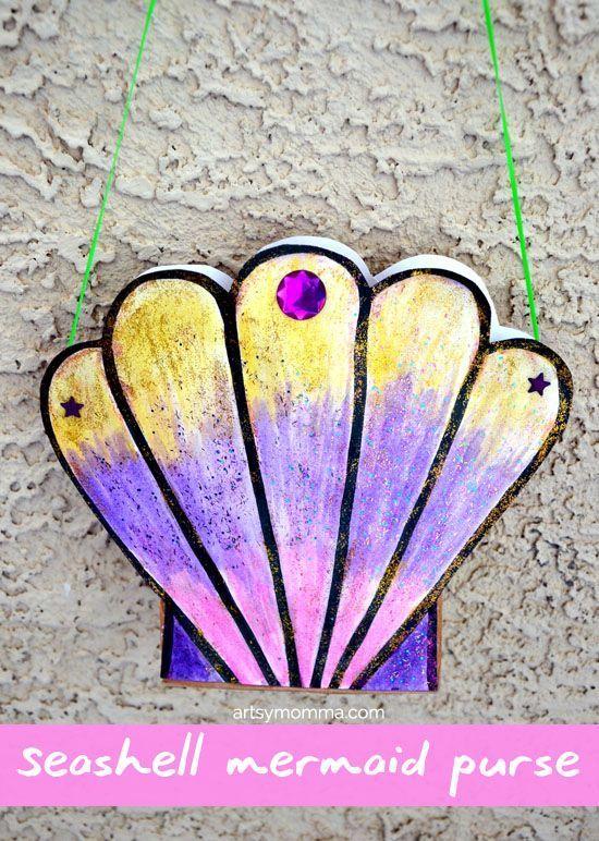 Seashell Mermaid Purse Craft