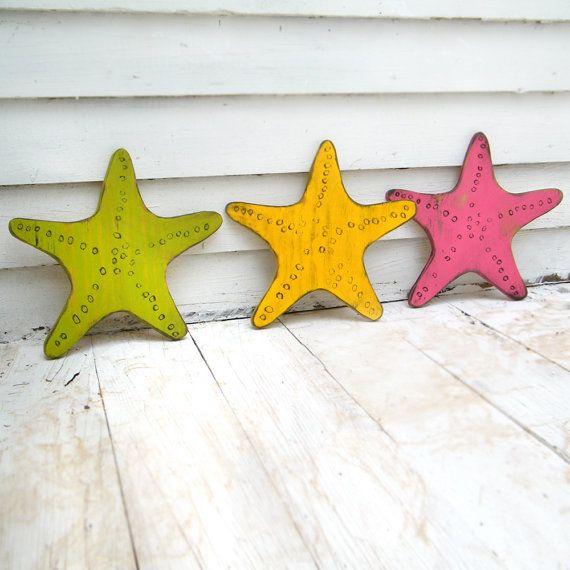 In legno nodoso Starfish Beach decorazione nautica Wall Decor Destin Beach House…