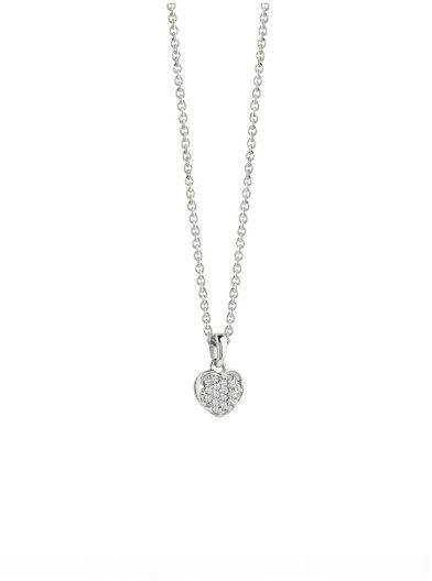 Heartshelter rhodium-plated heart Necklace