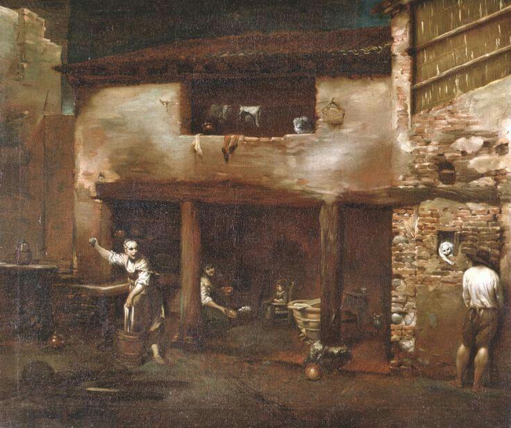 Scena di cortile 1710 1715 Pinacoteca Nazionale di Bologna