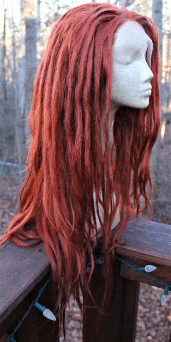 Ginger Dreadlock Wig Synthetic Lace Front by SisterSarahsShop