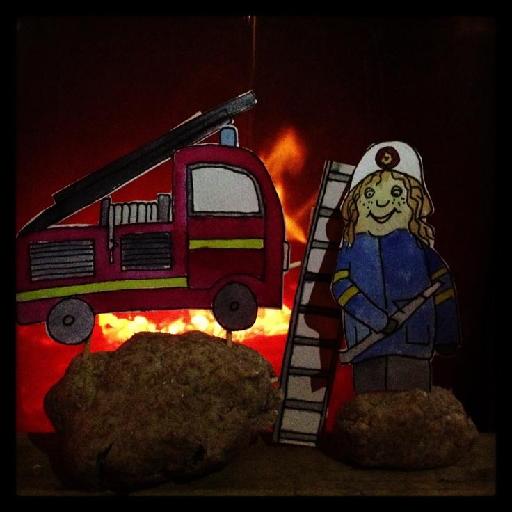 Illustration on fire
