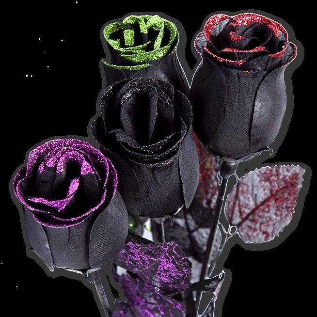glitter rose halloween dcor now five below - Glitter Halloween Decorations