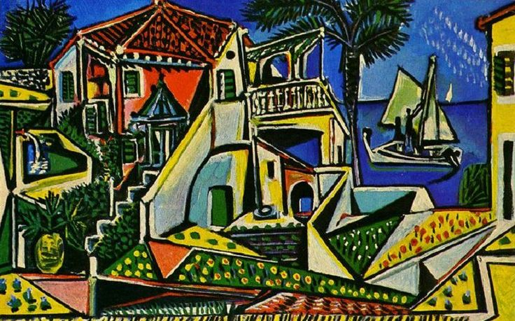 Mediterranean Landscape, 1953 by Pablo Picasso.  Professional Artist is the foremost business magazine for visual artists. Visit ProfessionalArtistMag.com.- www.professionalartistmag.com