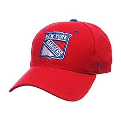 fa97bb365509f6 NHL-New York Rangers Shield Breakaway Hat - Stretch Fit - Red (Medium/Large)