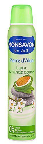 Monsavon déodorant femme spray pierre d'alun & amande 200ml - Lot de 3 #Monsavon #déodorant #femme #spray #pierre #d'alun #amande