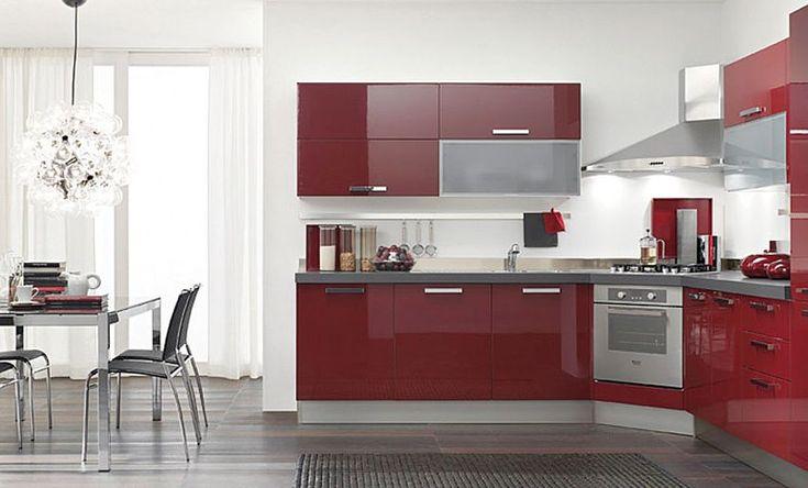Cocinas dise o de cocinas en color rojo proyectos que - Cocinas de color rojo ...