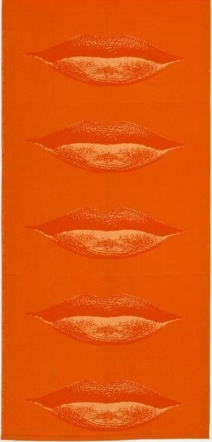 """Lippen"" textile, designed by Verner Panton, 1968."