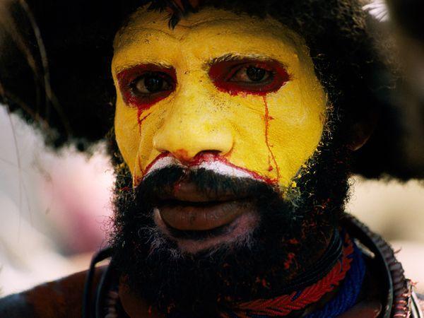 Huli tribesman, highlands Papua New Guinea - where my anthropologist husband works