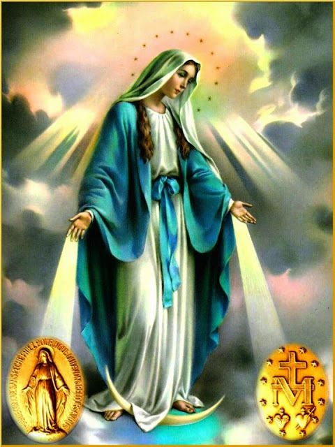 I really like this depiction as it shows our Lady to be the mediatrix of grace :)