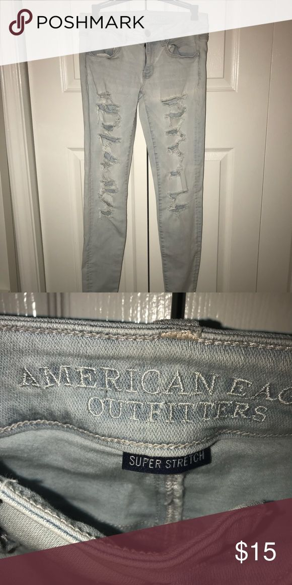 American Eagle Ripped Jeans Amazing condition, like new, never worn. Bought from American Eagle store. American Eagle Outfitters Jeans Skinny