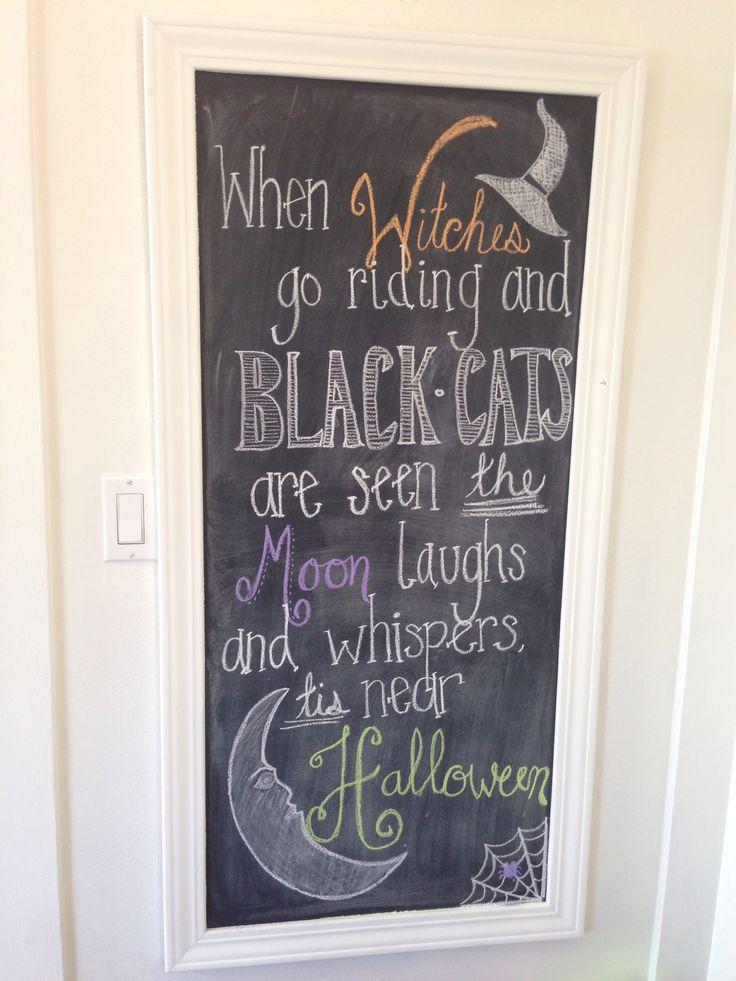 My Halloween Chalkboard!
