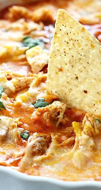 Chicken Enchilada Dip | Recipe | Cilantro, Sauces and ...
