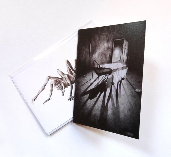 Stephen blank cards 2 pack horror card fantasy by DrawingInDark