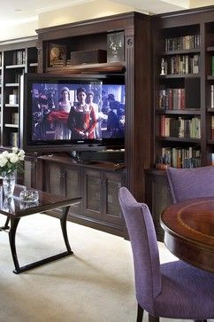 pivoting tv turning into bookcase traditional living room other metro lindy donnelly