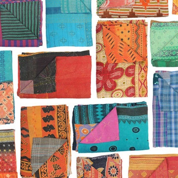 Sari quilts!  I love repurposing beautiful things into something else as lovely and useful.