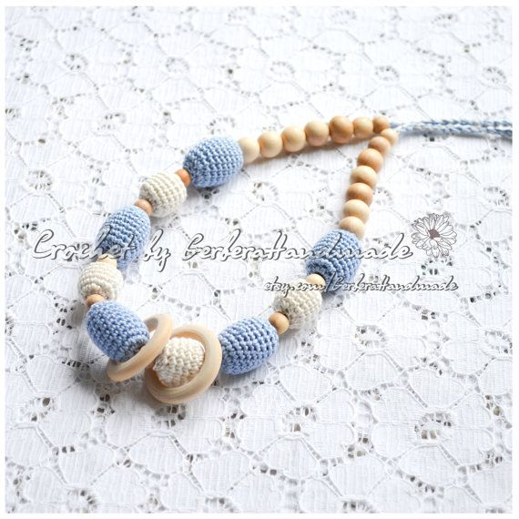 Nursing necklace & breastfeeding toy for baby  by GerberaHandmade