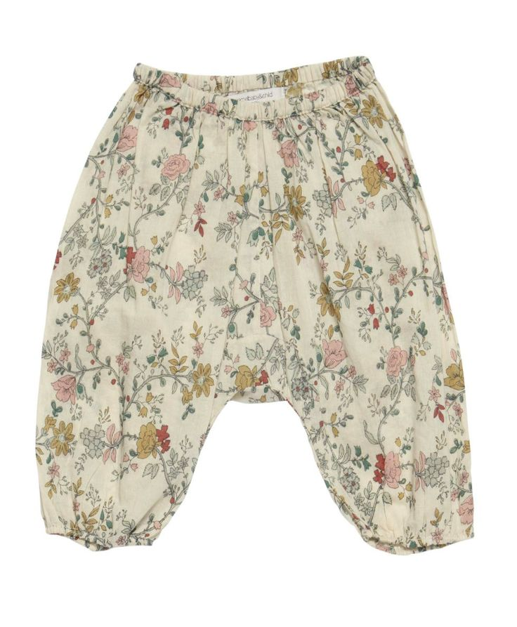 Floral print pants for baby from Caramel. I need to learn how to sew something similar! So cute!