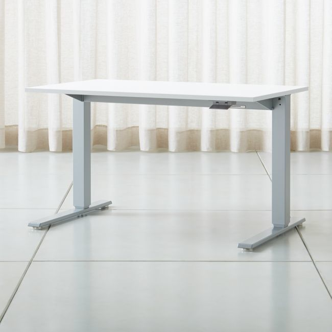 Humanscale A Float A Sit Stand 48 White Desk In 2020 Modern Home Office Desk Modern Home Office White Desks