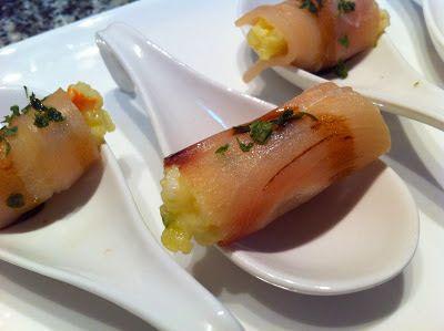 Bocconcini di pesce spada affumicato. Raffinato e delicatissimo, semplice e da preparare in anticipo