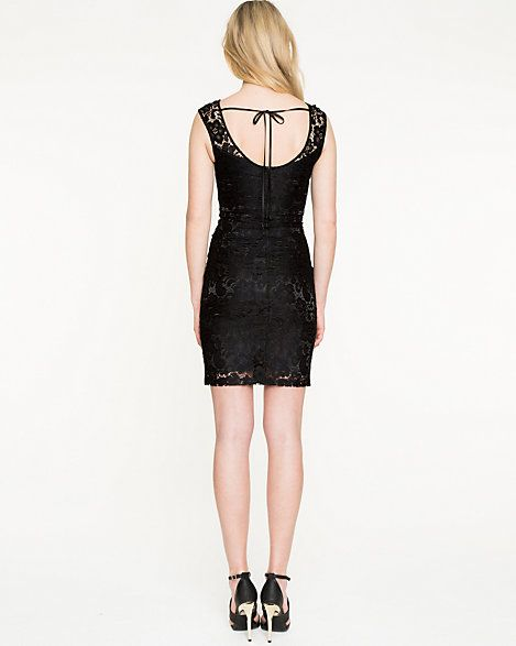 Le Château: Corded Lace Illusion Cocktail Dress