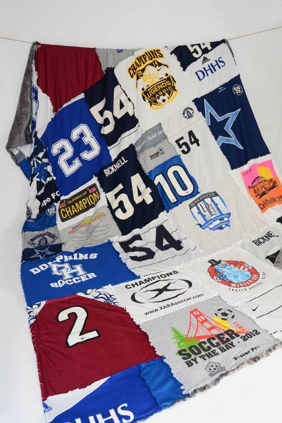 Custom baseball quilt made from baseball jerseys and tshirts