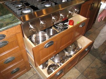 Smith Kitchen - traditional - cabinet and drawer organizers. My next house will have these drawers.