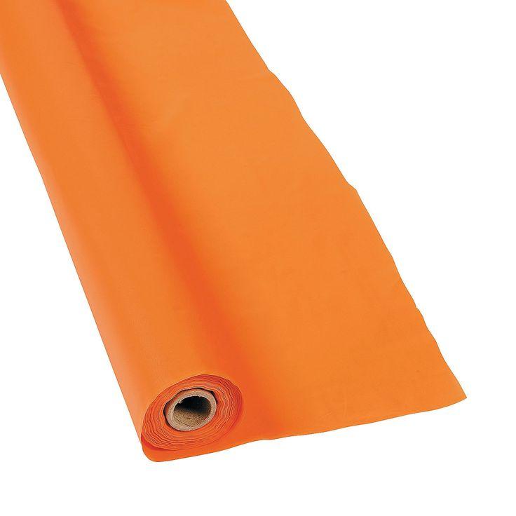 "Orange Tablecloth Roll 40"" x 100 ft. $15.99 100 ft - OrientalTrading.com"