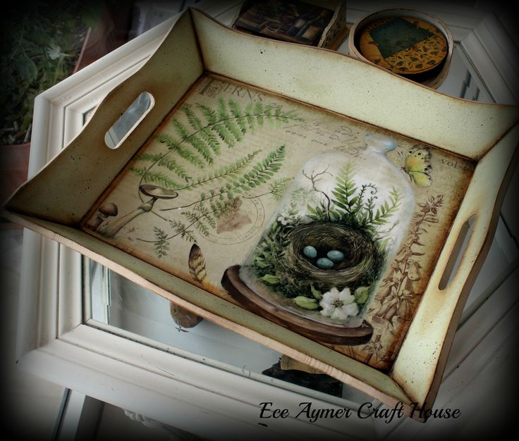 Unfinished Wooden Trays For Decoupage Decoration Alluring 22 Best Katya Coil  Hand Made Thanks Images On Pinterest Decorating Inspiration