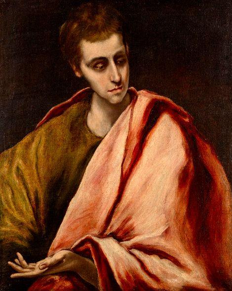 El Greco, Doménikos Theotokópoulos, St. John (1590-1595) on ArtStack #el-greco-domenikos-theotokopoulos #art