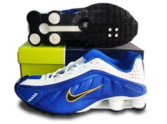 Cheap Men Nike Shox R4 Shoes Ordinary golden white