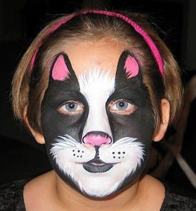 Trucco del viso per Carnevale per bambini da gatto