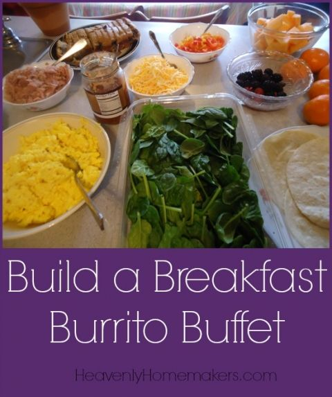 Why are there no cool pics of a  Breakfast Burrito Bar at a party or shower?